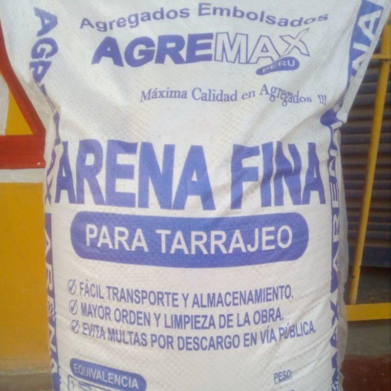 ARENA FINA PARA TARRAJEO  | Agremax Perú